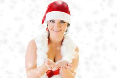 Beautiful woman in santa carnival costume Stock Photography