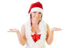 Beautiful woman in santa carnival costume Royalty Free Stock Photo