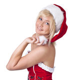 Beautiful woman in Santa Claus clothes Royalty Free Stock Photography