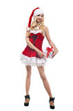 Beautiful woman in Santa Clause costume Royalty Free Stock Photo