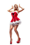 Beautiful woman in Santa Clause costume Stock Image