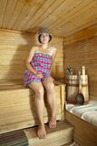 Beautiful  woman  in sauna Royalty Free Stock Photos