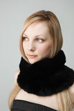 Beautiful woman with scarf Stock Photos