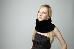 Beautiful woman with scarf Royalty Free Stock Photography