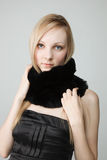 Beautiful woman with scarf Stock Image