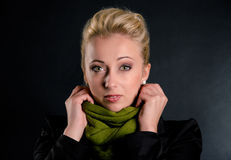 Beautiful woman with scarf Royalty Free Stock Images