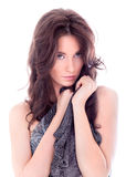 Beautiful woman with scarf Stock Photography