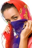 Beautiful woman in a scarf Royalty Free Stock Image