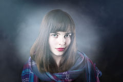 Beautiful woman with scarf Royalty Free Stock Photos