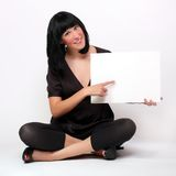 Beautiful woman with schedule. Stock Photo