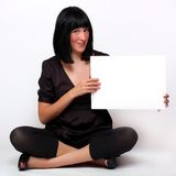 Beautiful woman with schedule. Royalty Free Stock Image
