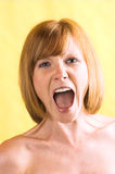 Beautiful woman is screaming Royalty Free Stock Images