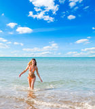 Beautiful woman and sea Royalty Free Stock Photo