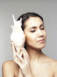 Beautiful woman with sea-shell Royalty Free Stock Photos