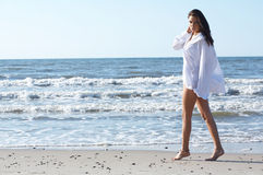 Beautiful Woman at seaside Royalty Free Stock Photo
