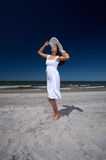 Beautiful Woman at seaside Royalty Free Stock Image