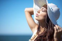 Beautiful Woman at seaside Royalty Free Stock Image