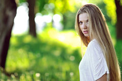 Beautiful woman with seductive look Stock Photo