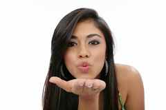 Beautiful woman sending kiss Royalty Free Stock Photos