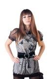 Beautiful woman in sexual dress. Royalty Free Stock Image