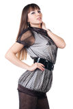 Beautiful woman in sexual dress. Royalty Free Stock Photos