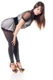 Beautiful woman in sexual dress. Royalty Free Stock Photo