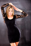 Beautiful woman in a sexy dress Royalty Free Stock Photography
