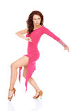 Beautiful woman in a sexy dress modern dancing Royalty Free Stock Images
