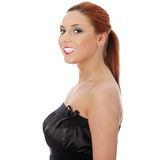 Beautiful woman in sexy elegant dress Royalty Free Stock Photography