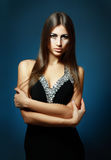 Beautiful woman in sexy evening dress Royalty Free Stock Photos