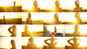 Beautiful woman sexy girl collection travel set in Stock Photography