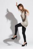 Beautiful woman and shadow. Stock Photo