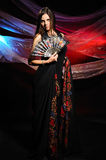 The beautiful woman with a shawl Stock Photo