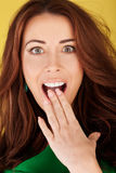 Beautiful Woman With Shocked Expression Royalty Free Stock Images