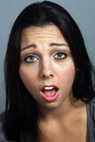 Beautiful Woman with Shocked Facial Expression Stock Photography
