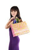 Beautiful woman with shoping bags Stock Photography