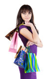 Beautiful woman with shoping bags. Royalty Free Stock Images