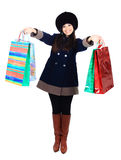 Beautiful woman with shopping Stock Photography