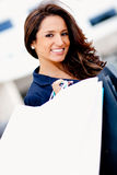 Beautiful woman shopping Stock Photography