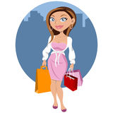Beautiful woman shopping Stock Image