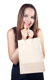Beautiful woman with shopping bag Royalty Free Stock Images