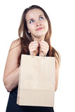 Beautiful woman with shopping bag Royalty Free Stock Photos
