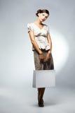 Beautiful woman with shopping bag Stock Photos