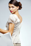 Beautiful woman with shopping bag Royalty Free Stock Image