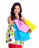 Beautiful woman with a shopping bag. Stock Images