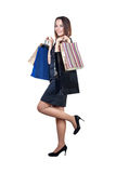Beautiful woman with shopping bags Stock Images