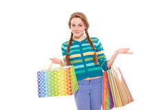 Beautiful woman with shopping bags Stock Image