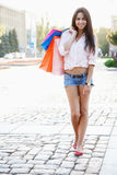 Beautiful woman with shopping bags Royalty Free Stock Image