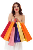 Beautiful woman with a shopping bags Stock Photo