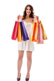 Beautiful woman with a shopping bags Stock Photography